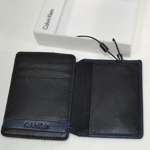 Calvin Klein Accessories - CALVIN KLEIN Leather Bifold ID Money Clic  Wallet